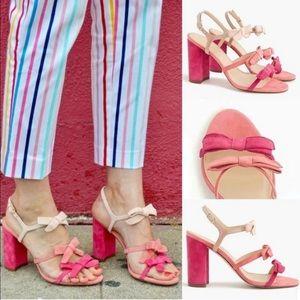 J. crew Stella Bow Heels (pink ombré)